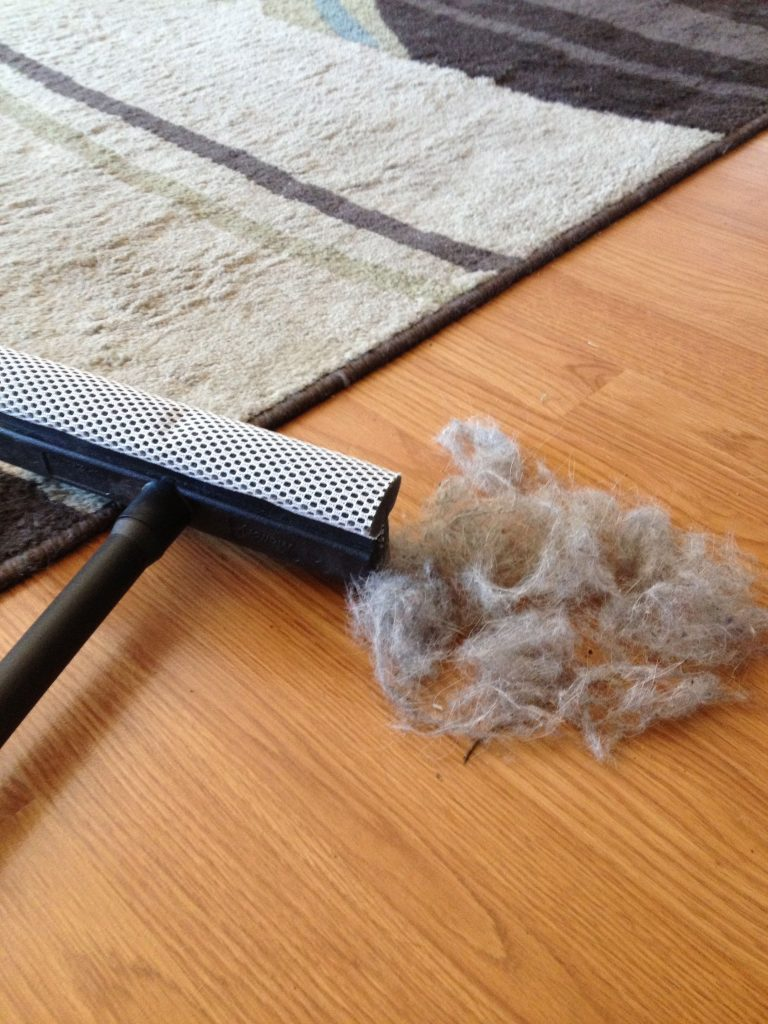 Squeegee for fur