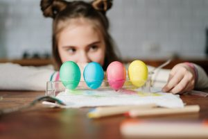 Easter Eggs Colored Drying